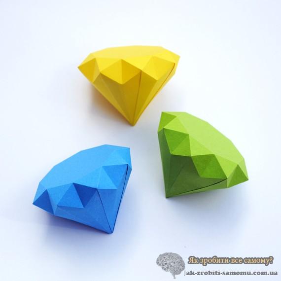 Як зробити алмаз з паперу?