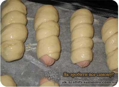 Як приготувати сосиски в тісті