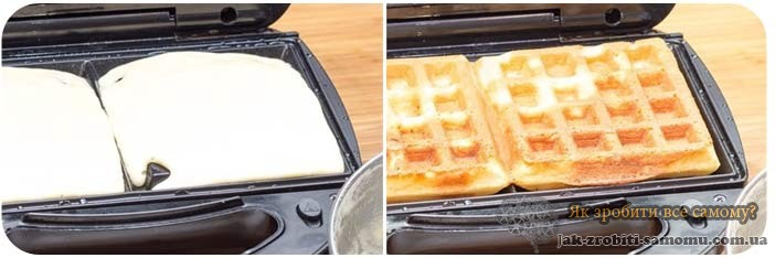 Як зробити вафлі в вафельниці