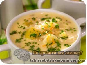 Як приготувати сирний суп?