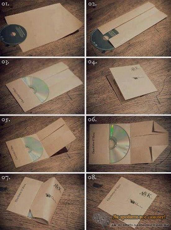 Як зробити конверт для диска з А4