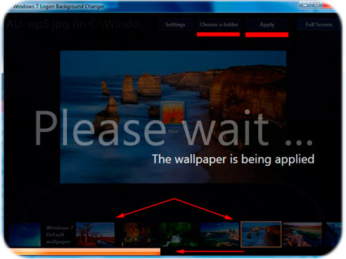 Як змінити екран вітання windows 7