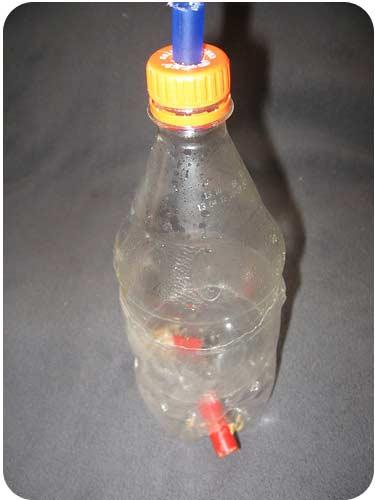 Пастка для ос з 2-х пластикових пляшок