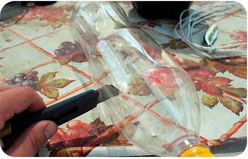 Пастка для ос з пластикової пляшки