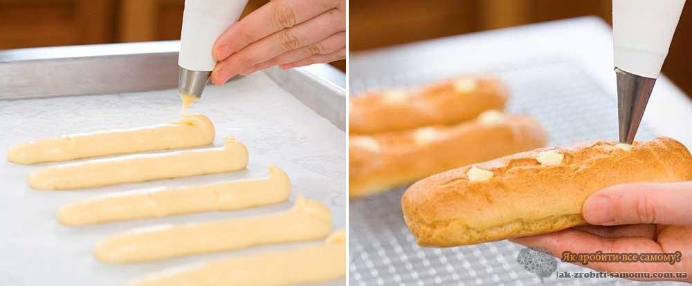 Як приготувати тісто для еклерів