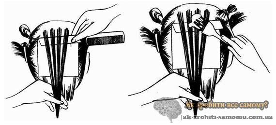 як зробити мелірування фольгою