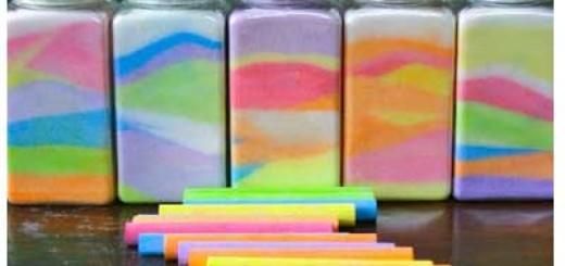 Як зробити кольоровий пісок?