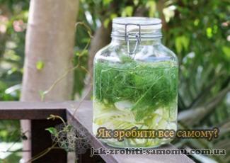 Як зробити укропну воду в домашніх умовах
