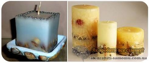 Як зробити декоративну свічку в ракушці.