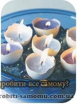 Як зробити декоративну свічку з грецьких шкаралуп.