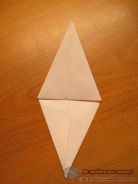 Как сделать журавлика из бумаги - Инструкция 9-1