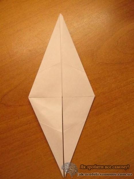 Як зробити журавлика з паперу - покрокова інструкція