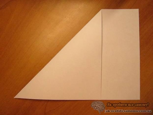 Як зробити журавлика з паперу - основа