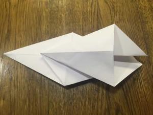 Как сделать лебедя из бумаги7-1