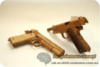 Як зробити пістолет з дерева?