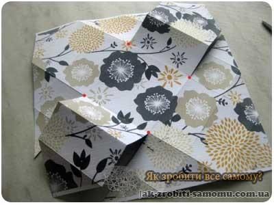 Як зробити подарункову коробку своїми руками