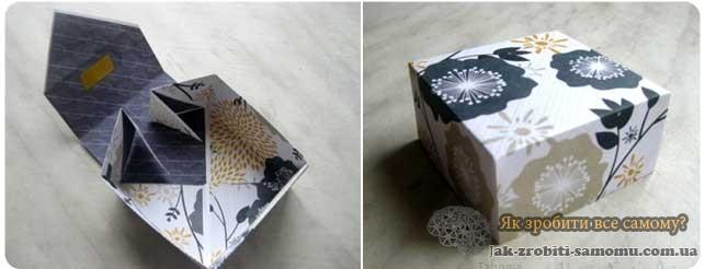 Як зробити подарункову коробку