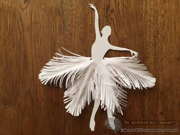 Як зробити сніжинки балеринки
