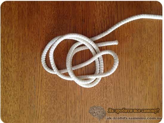 Як зробити вузол подвійний булинь