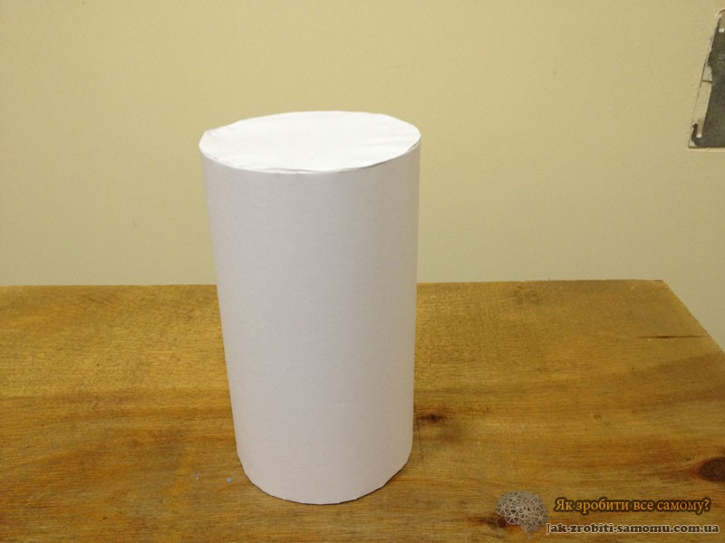 Як зробити циліндр з паперу?