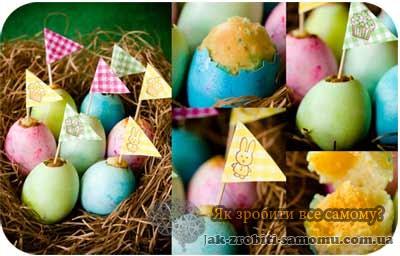 Як зробити великодні яйця