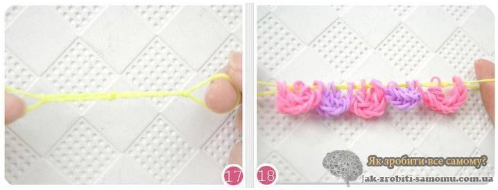 Як зробити квітку з резинок?