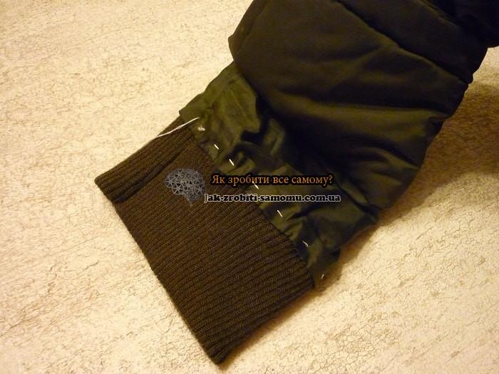 Як пришити рукав до куртки