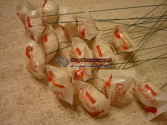 Як зробити букет з цукерок своїми руками
