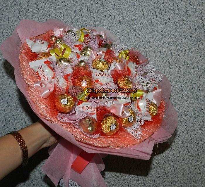 Як з цукерок зробити букет для початківців