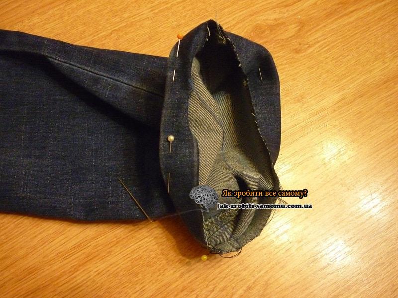 Как подшить джинсы вручную (7)