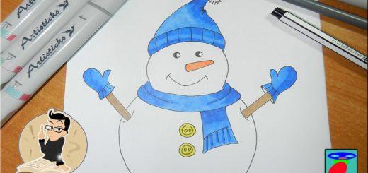 Как-нарисовать-снеговика