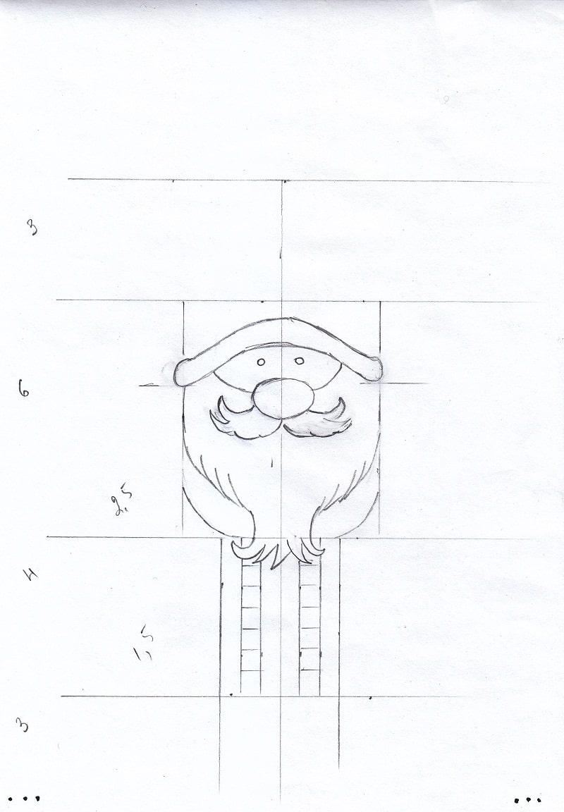 Як намалювати новорічного гнома