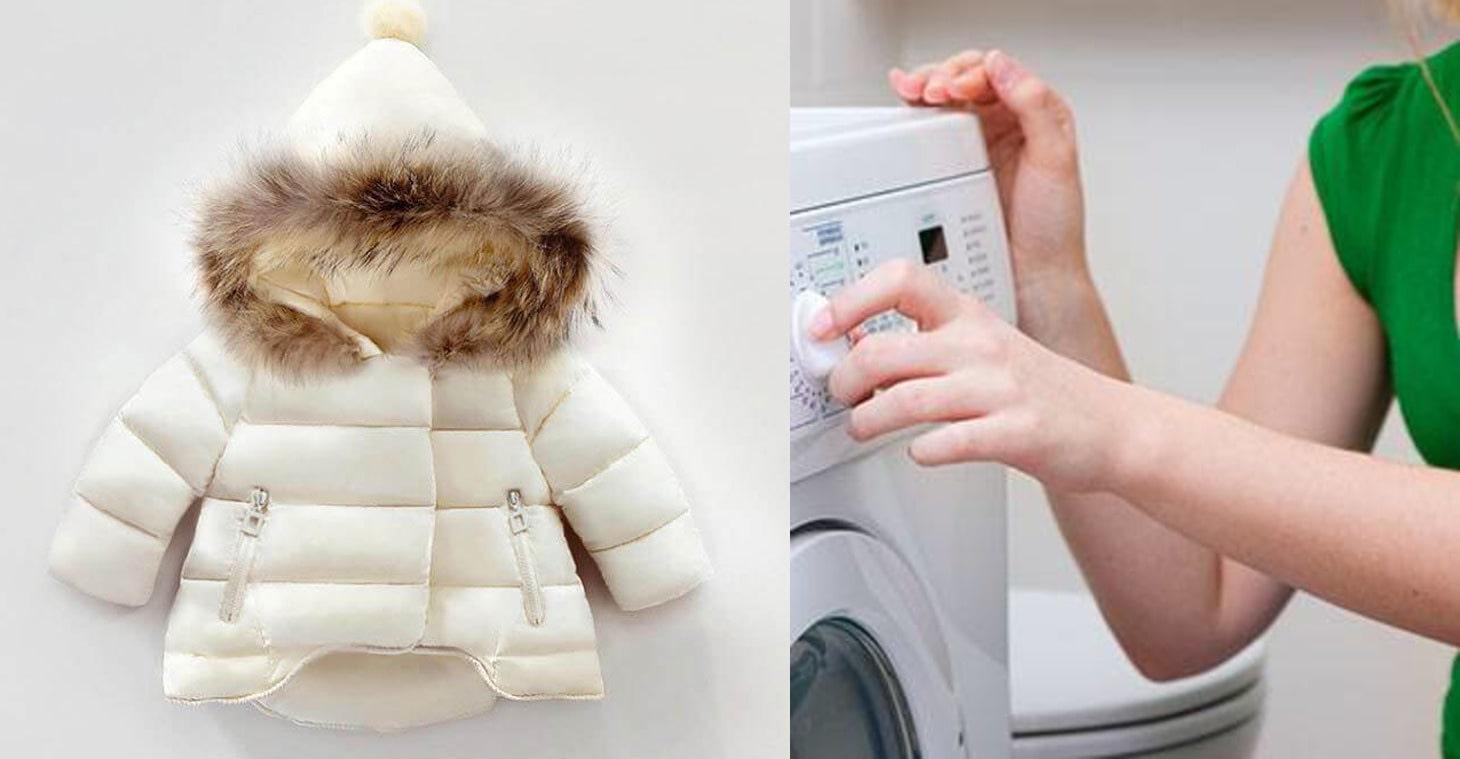 Як прати пуховик в пральній машині і вручну?